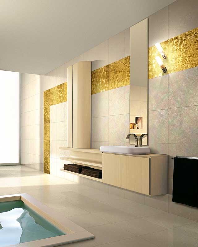 Bagno oro e bianco for Bagno d oro